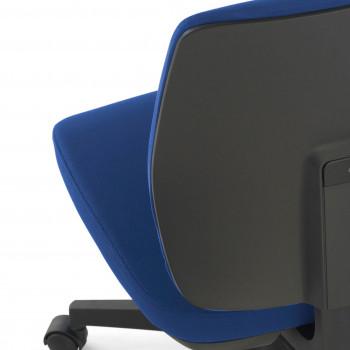 Wind - Silla de escritorio Wind, respaldo bajo tejido azul - Imagen 2