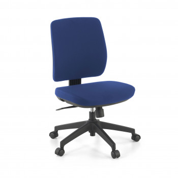Wind - Silla de escritorio Wind, respaldo bajo tejido azul - Imagen 1