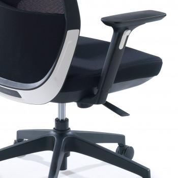 Wind - Silla de oficina Wind, respaldo ergonómico, brazos 3D, red negro - Imagen 2