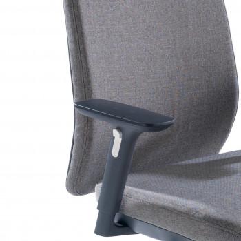 Silla Wind tapizada gris