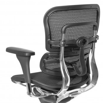 Keystone - Silla ergonómica Keystone, aluminio, sincro, red Negro - Imagen 2