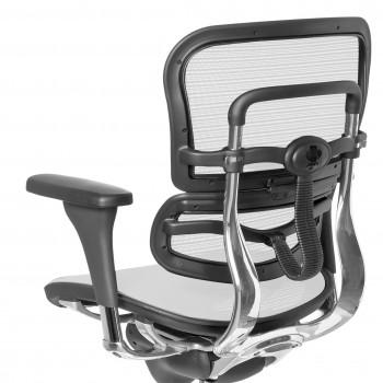 Keystone - Silla ergonómica Keystone, aluminio, sincro, red Blanco - Imagen 2