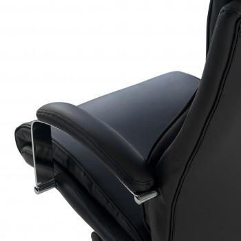 Tauro - Sillón de oficina Tauro brazos tapizados ecopiel Negro - Imagen 2
