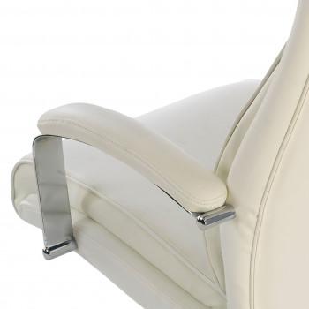 Tauro - Sillón de oficina Tauro, brazos tapizados  ecopiel Blanco - Imagen 2