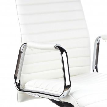 Jaguar - Sillón Jaguar, base aluminio, piel natural blanco - Imagen 2