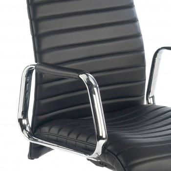 Jaguar - Sillón Jaguar, base aluminio, piel natural negro - Imagen 2