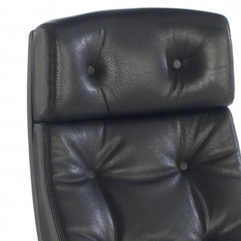 Chesterfield - Sillón de oficina Chesterfield, capitoné, piel natural negro - Imagen 2