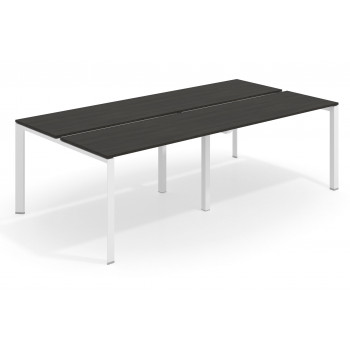 Link - Mesa multipuesto doble Link bench 126 estructura blanca - Imagen 1