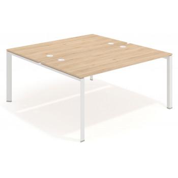 Link - Mesa multipuesto Link bench 166 estructura blanca - Imagen 1