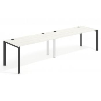 Link - Mesa de oficina progresiva doble serie link estructura negro - Imagen 1