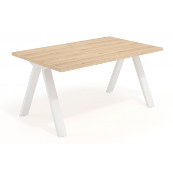Uve - Mesa de escritorio Uve estructura blanca - Imagen 1