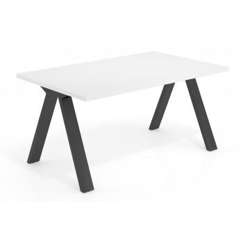 Uve - Mesa de escritorio Uve estructura negra - Imagen 1