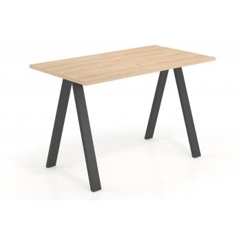 Uve - Mesa de escritorio alta Uve estructura negra - Imagen 1