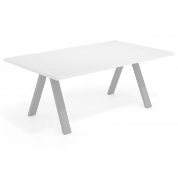 Uve - Mesa multipuesto Uve fondo 120 estructura estructura aluminio - Imagen 1