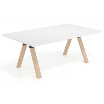 Uve - Mesa multipuesto Uve fondo 120 estructura madera - Imagen 1
