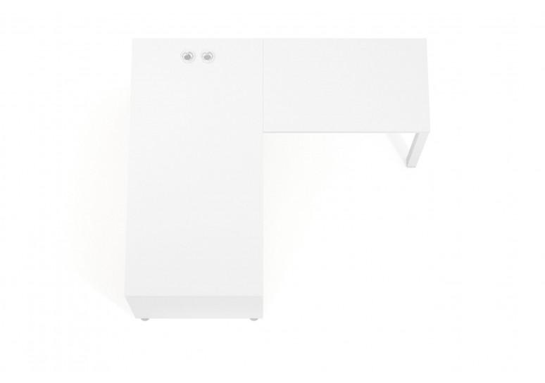 Mesa de dirección con ala Manager estructura blanca
