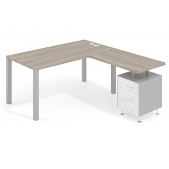 Mesa de escritorio en L...