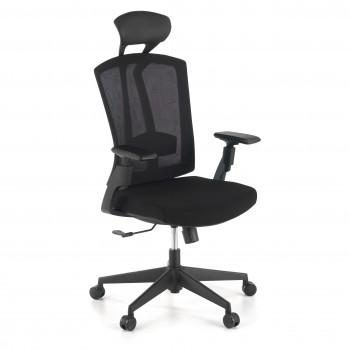Baron - Silla de oficina Baron, reposacabezas, brazos 3D, red negro - Imagen 1
