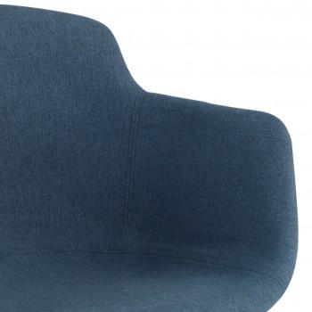 Ivonne - Silla confidente Ivonne 4 Patas Asiento Tapizado Azul - Imagen 2