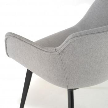 Ivonne - Silla confidente Ivonne 4 Patas Asiento Tapizado gris - Imagen 2