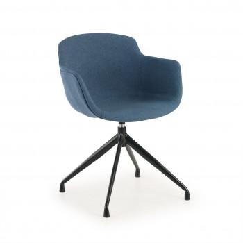 Ivonne - Silla confidente Ivonne Giratoria Asiento Tapizado Azul - Imagen 1
