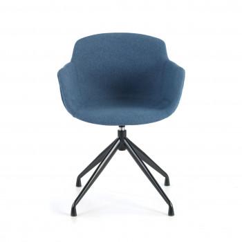 Ivonne - Silla confidente Ivonne Giratoria Asiento Tapizado Azul - Imagen 2