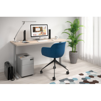 Work Due - Mesa de escritorio work due fondo 60 estructura aluminio - Imagen 2