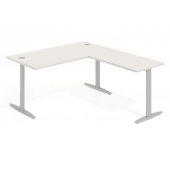 Work Due - Mesa de escritorio en L work due estructura aluminio - Imagen 1