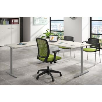 Work Due - Mesa de escritorio en L work due estructura aluminio - Imagen 2