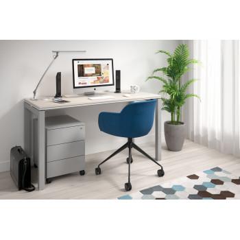 Work Quatro - Mesa de oficina Work Quattro fondo 60 estructura aluminio - Imagen 2