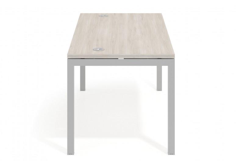 Mesa de oficina Work Quattro fondo 80 estructura aluminio