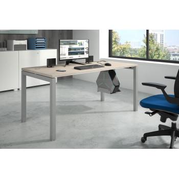 Work Quatro - Mesa de oficina Work Quattro fondo 80 estructura aluminio - Imagen 2