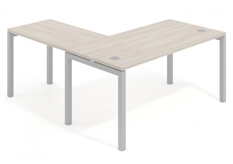 Mesa de oficina con ala Work Quattro estructura aluminio