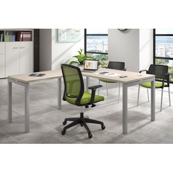Work Quatro - Mesa de oficina con ala Work Quattro estructura aluminio - Imagen 2