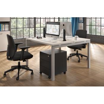 Work Quatro - Mesa bench serie Work Quattro fondo 123 estructura aluminio - Imagen 2