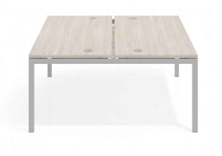 Mesa bench serie Work Quattro fondo 163 estructura aluminio
