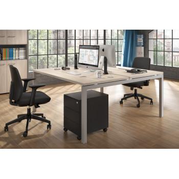 Work Quatro - Mesa bench serie Work Quattro fondo 163 estructura aluminio - Imagen 2