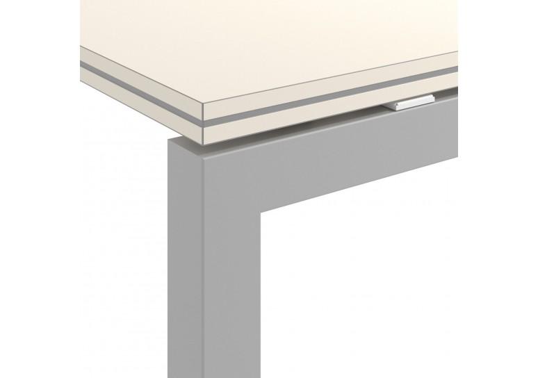 Mesa bench doble serie Work Quattro fondo 163 estructura aluminio