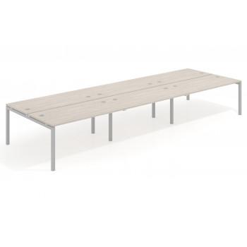 Work Quatro - Mesa bench triple serie Work Quattro fondo 163 estructura aluminio - Imagen 1