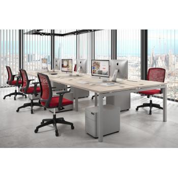 Work Quatro - Mesa bench triple serie Work Quattro fondo 163 estructura aluminio - Imagen 2