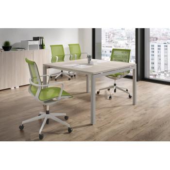 Work Quatro - Mesa de reunion serie Work Quattro fondo 123 estructura aluminio - Imagen 2