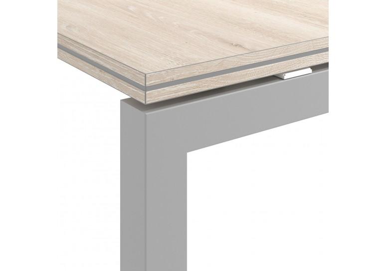 Mesa de reunion doble serie Work Quattro fondo 123 estructura aluminio