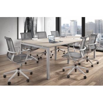 Work Quatro - Mesa de reunion doble serie Work Quattro fondo 123 estructura aluminio - Imagen 2