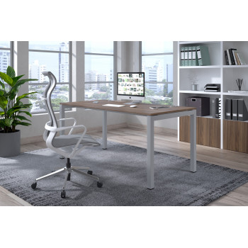 Kubika - Mesa de escritorio Kubika fondo 80 estructura aluminio - Imagen 2