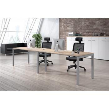 Kubika - Mesa de oficina progresiva doble Kubika estructura aluminio - Imagen 2