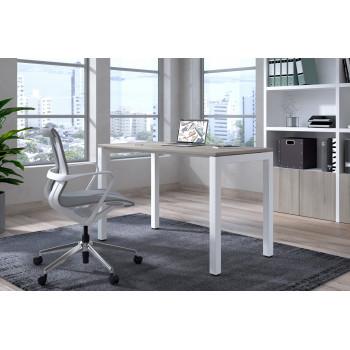 Kubika - Mesa de escritorio Kubika fondo 60 estructura blanca - Imagen 2