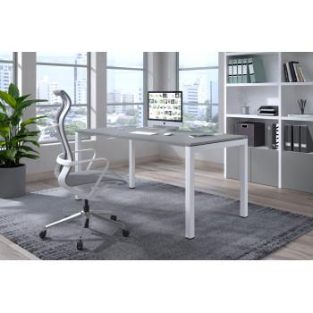Kubika - Mesa de escritorio Kubika fondo 80 estructura blanca - Imagen 2