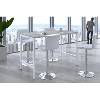 Kubika - Mesa alta de reuniones Kubika estructura blanca - Imagen 2