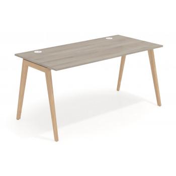 Forest - Mesa de escritorio Forest, madera maciza, fondo 80 - Imagen 1
