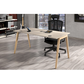 Forest - Mesa de escritorio Forest, madera maciza, fondo 80 - Imagen 2